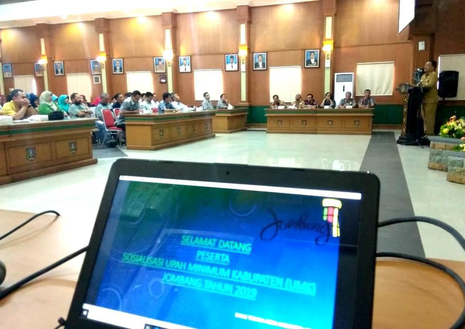 Pemkab Jombang Mulai Sosialisasikan UMK Kabupaten Jombang 2019
